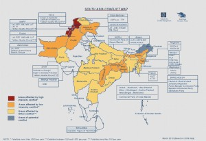 South Asia Conflict Map