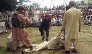 TTP Taliban lashing innocent lady